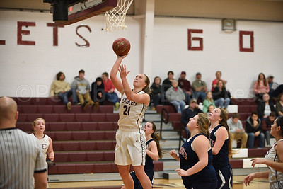 Morgan Dauk scores for GSA with over 4 minutes in the final quarter.  Photo by Franklin Brown