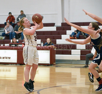 Sarah Mullen goes for her shot against Penquis.   Photo by Franklin Brown