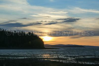 Night falls over Penobscot Bay