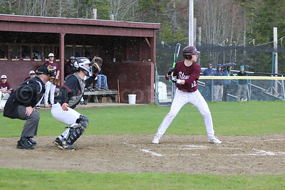 Taylor Schildroth waits for the right pitch in a mid-season game against Central. Photo by Anne Berleant