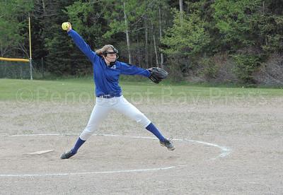 Lily Gray winds up a pitch against Schenck. Photo by Jack Scott