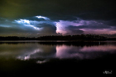 April storm light show - Des Moines