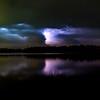 April storm light show - Des Moines