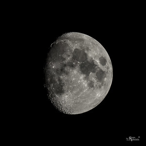 84% Illuminated Waxing Gibbous Moon
