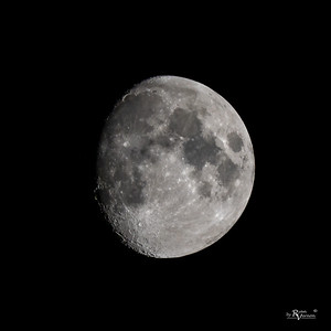 93% Illuminated Waxing gibbous moon