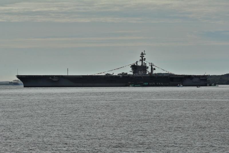 USS Eisenhower, Halifax harbour.