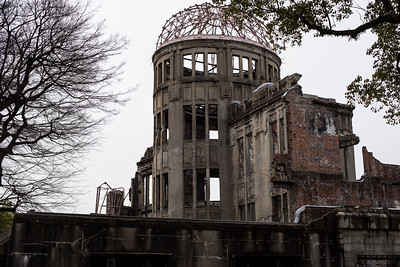 Atomic bomb dome, Hiroshima. The only building left standing near the atomic bomb's hypocenter.