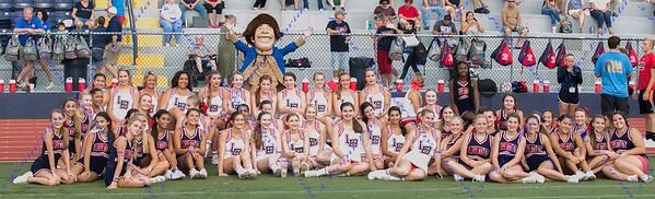 Cheerleaders - LBHS Homecoming Court - September 7 , 2017