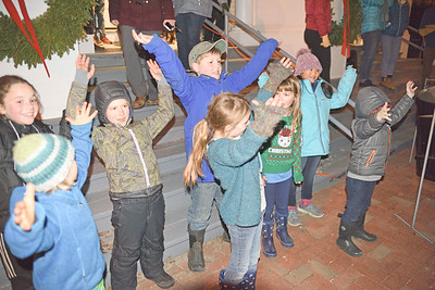Photo by Franklin Brown Annual Tree Lighting, Blue Hill December 6, 2018