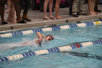 Elena Bakeman, Girls 200 Yard Medley Relay.  Photo by Franklin Brown