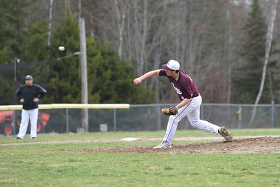 Stefan Simmons pitches to out Central during the last minute of the 7th inning.  Photo by Franklin Brown