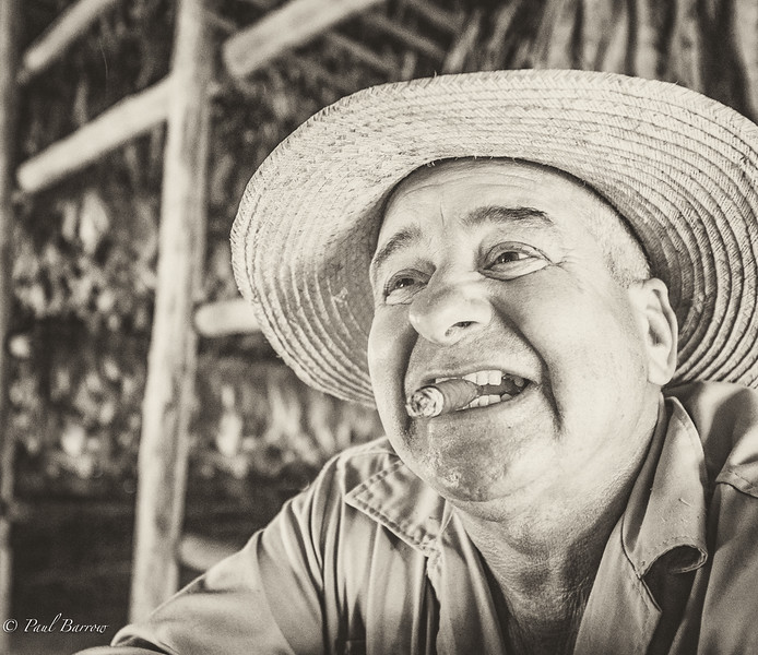 Section A - Print - 2nd - Cuban Tobacco Farmer by Paul Barrow