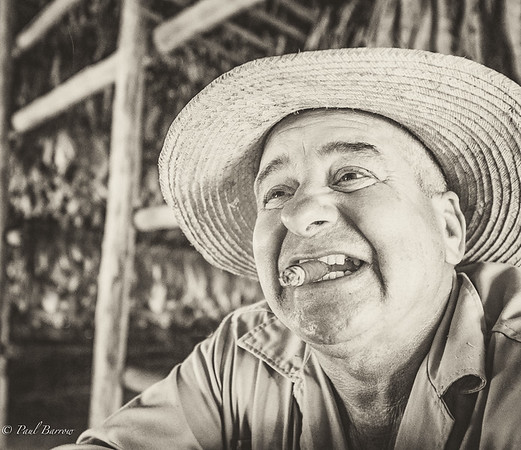 Section A - Print - 2nd - Cuban Tobacco Farmer by Paul Barrow