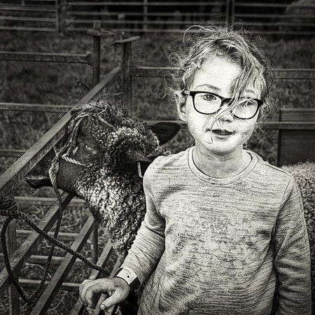 Section A - Print - 3rd - Young Shepherd Girl by Carol Tritton