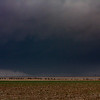 Distant view of the wall cloud southwest of Happy, TX