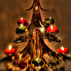 Christmas tree candelabra