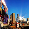 Sunset reflection at Target Field