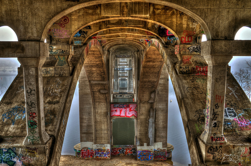 Under the Ford Avenue Bridge
