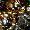 A pile of glass ornaments