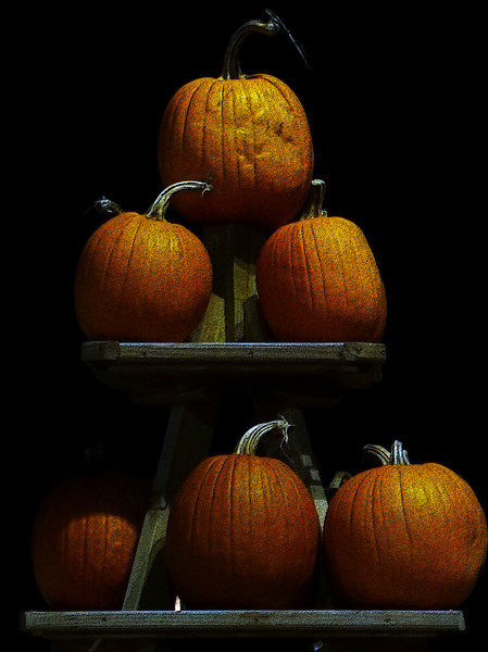 A stack of pumpkins