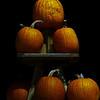 A stack of pumpkins