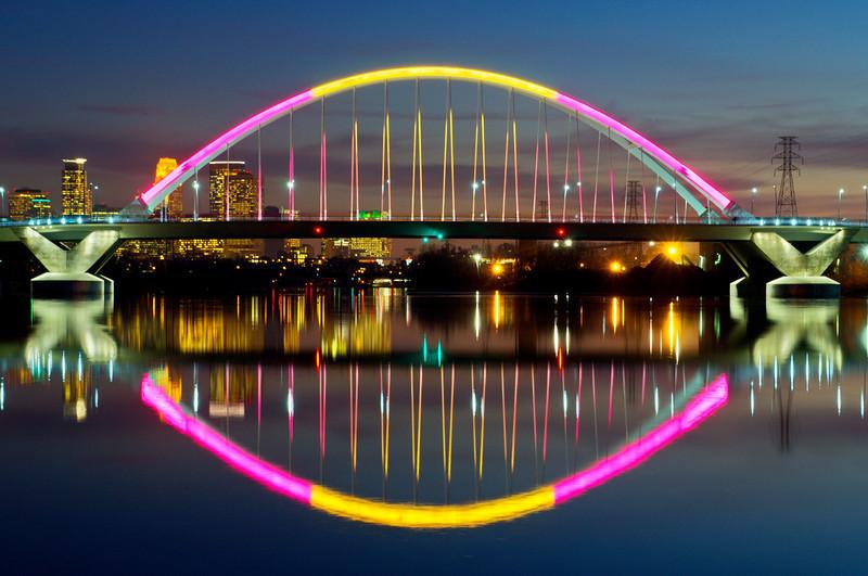 Bathed in color-The Lowry Avenue Bridge