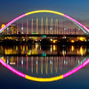 Bathed in color-The Lowry Avenue Bridge