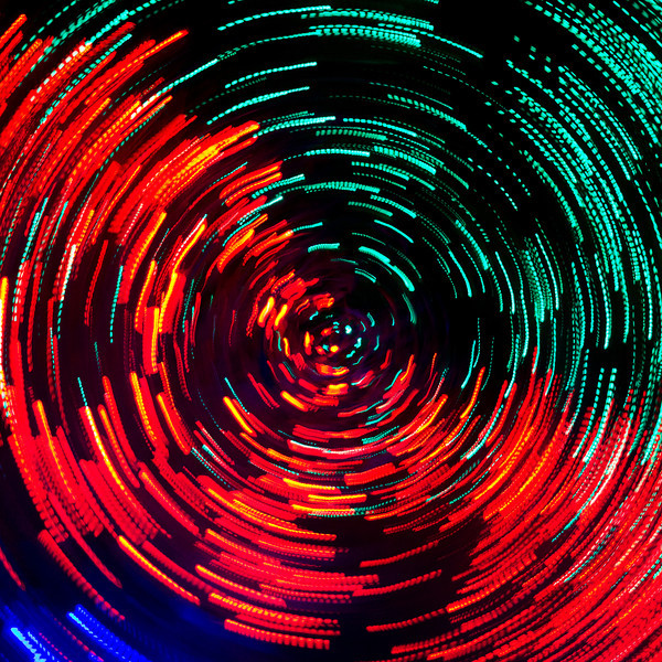 Swirl of holiday lights