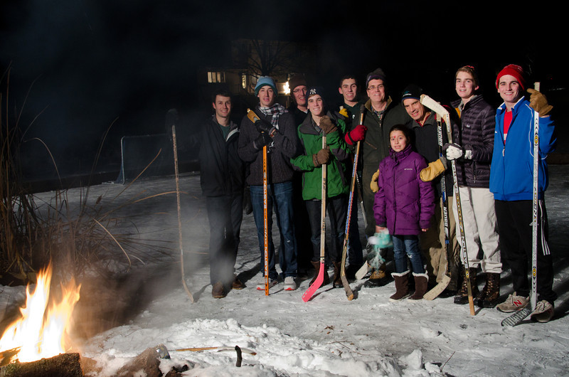 Christmas pond hockey