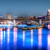 Twilight on the Mississippi<br /> <br /> 20 x 10 Panoramic