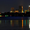 Reflections of Minneapolis over Lake Calhoon