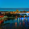 Twilight over the new 35W bridge