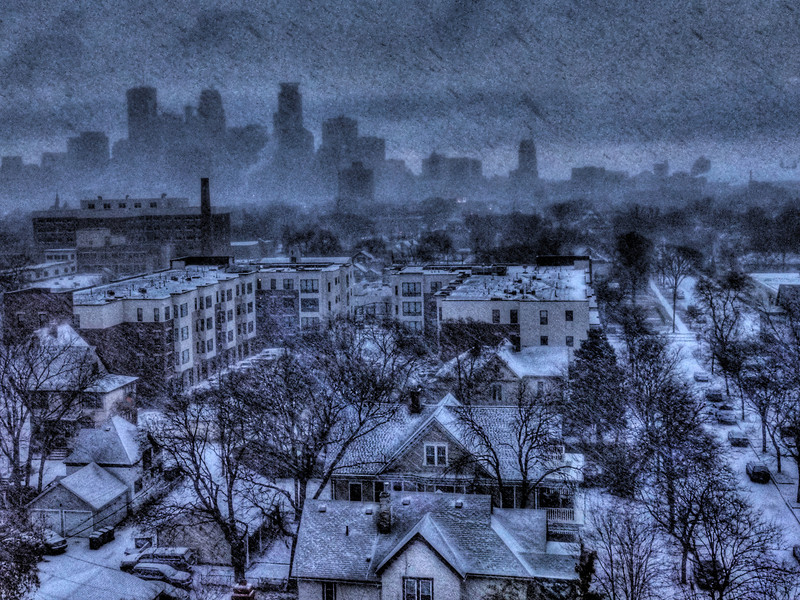The first measurable snowfall in Minneapolis