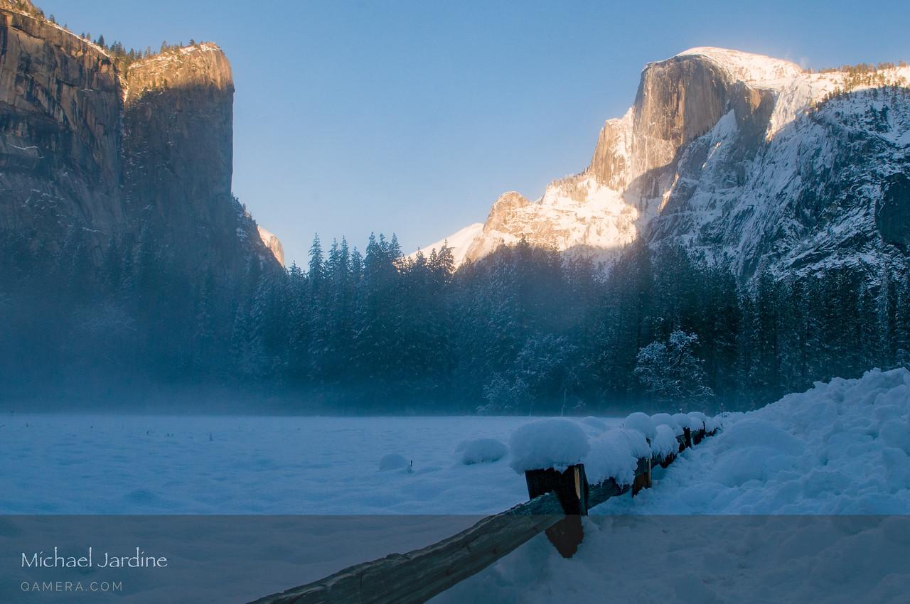 Half Dome and valley mist, Yosemite
