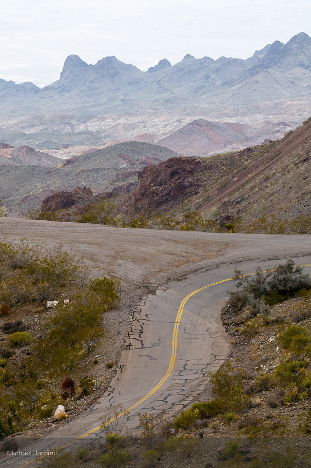 Sitgreaves Pass, old Route 66 (Oatman Road), California-Arizona border west of Kingman