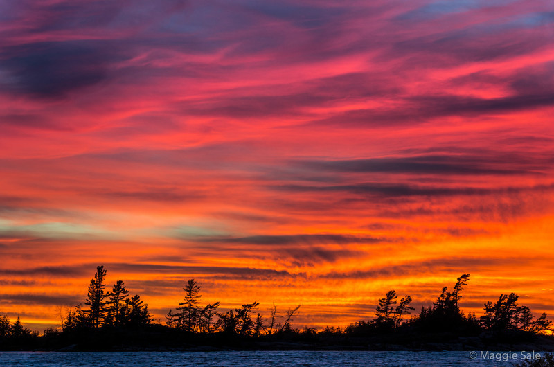 A fiery red sunset over Georgian Bay on our visit to the area for a few days this week. Superb!