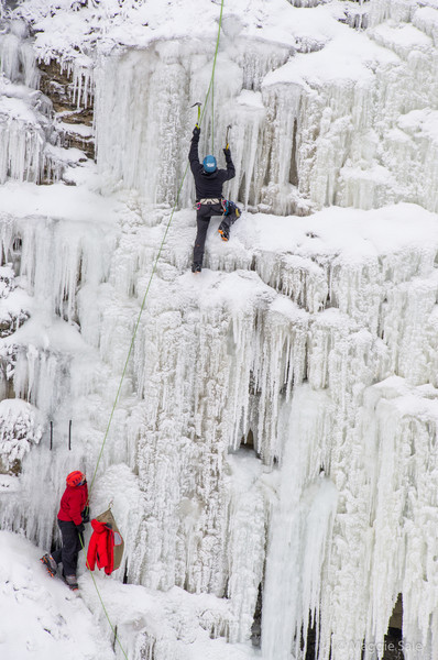 Lucky to catch these ice climbers at the Credit River gorge in the Forks of the Credit Provincial Park on Feb. 3