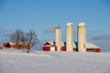 Evening light on a farm in Eramosa, outside Guelph on Feb. 17th