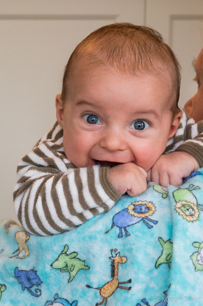 Grandson Bennett is almost 3 months old now! He gives you beaming smiles - so cute!