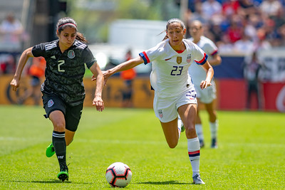May 26, 2019 - Harrison, NJ, United States of America - 2nd half of the game between USA and Mexico at the Red Bulls Arena - Harrison, NJ. (Credit Image: Carl Gulbish/BacklineSoccer)