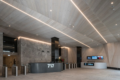 Building lobby and reception area