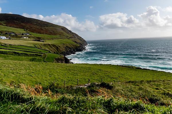 Beautiful Blue Ocean meets the green pastures