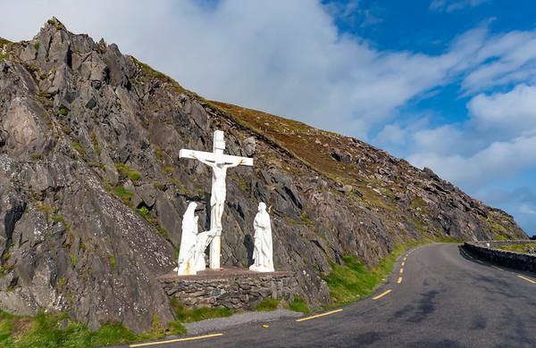 Christian Crucifix Monument along Slea Head Dr