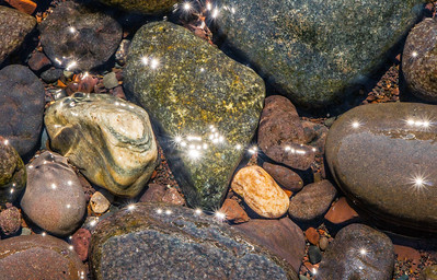 sparkly rocks