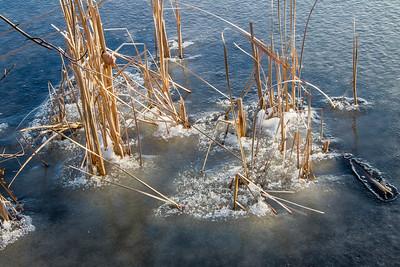 half frozen