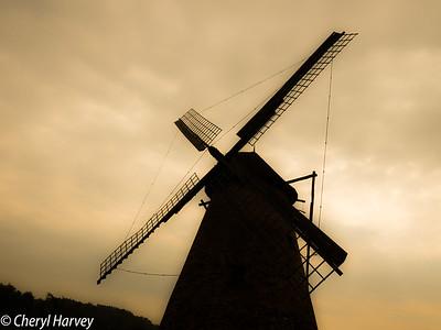 Windmill Silhouette,  Szentendre Skanzen, Hungary