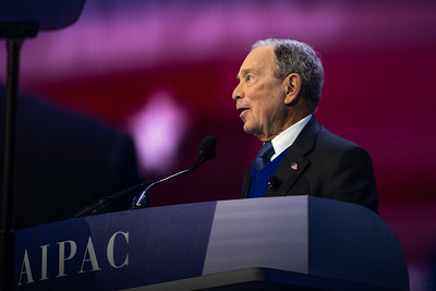 The Honorable Michael Bloomberg, Former Mayor of New York City & Democratic Presidential Candidate speaks at the AIPAC 2020 Policy Conference in Washington D.C.