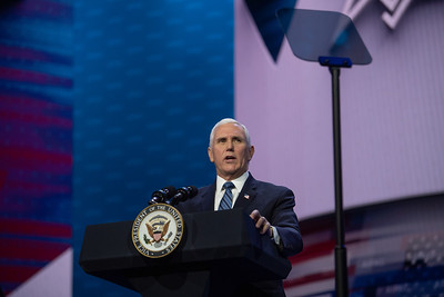 The Honorable Mike Pence, Vice President of the United States speaks at the AIPAC 2020 Policy Conference in Washington DC.