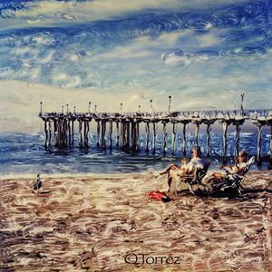 Polaroid SX70, Aliso Pier, Laguna Beach CA