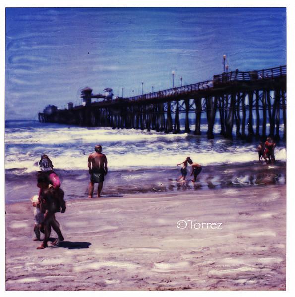 Polaroid SX70, Oceanside Pier, Oceanside CA